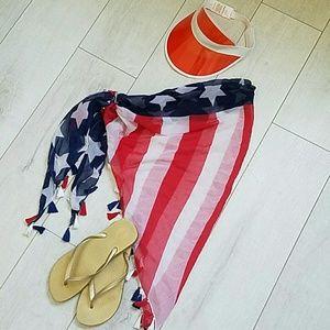 Sarong, sandals, visor bundle